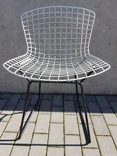 Vintage Harry Bertoia Wire Chair Knoll International Schwarz-Weiß