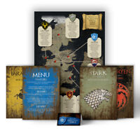 Game of Thrones Themed Wedding Table Seating Plan Chart Place Cards ANY HOUSE