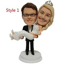 Romantic Funny Wedding Cake Topper Bride and Groom Couple Customized Love Gift