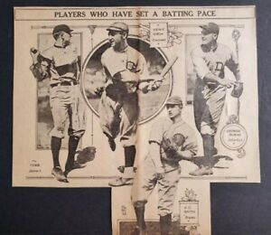 AWESOME 1918 Newspaper ad featuring Ty Cobb Detroit Tigers - Burns Heinie Groh +
