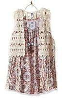 Beautees Big Girls 2pc. Crochet Vest W/Tank, Pink, Small