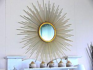 very large 1 meter diameter SUNBURST starburst GOLD  MIRROR   NEW