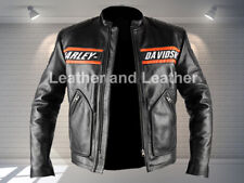 WWE Goldberg Moto Motard Veste en cuir Harley Davidson Veste Moto
