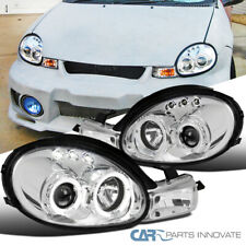 For 00-02 Dodge Plymouth Neon Replacement Clear LED Halo Projector Headlights