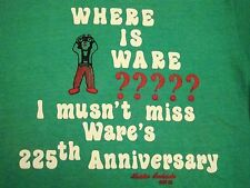 Vintage Where is Ware? 225th Anniversary Clown Soft Thin Green Vtg T Shirt M