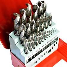 25pcs Drill Bit Sets HSS Steel Drill Bits Metric Metal Case 1mm - 13mm Metal AU