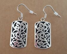 Brighton Bay Silver Earrings Scroll Design Tree Of Life ~ NEW IN BAG
