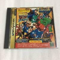 Sega Saturn Marvel Super Heroes VS Street Fighter Capcom SS User Japan F/S