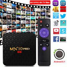 MX10PRO Android 8.1.0 Quad Core Smart TV BOX 2+16G WIFI HDR10 4K 3D Movies Films