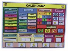 Magnetyczny Kalendarz Edukacyjny kolorowy dla dzieci