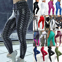 Women Leggings Fitness Sports Gym Exercise Running Jogging Yoga Pants Trousers B