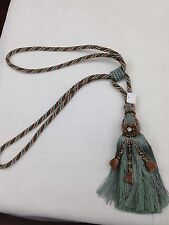 Large Blue Monoco Tassels