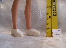 Mattel Vintage Ken Doll #71 One Pair Of Off White Dress Shoes Marked Taiwan