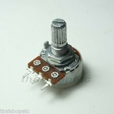 2 x 10K Ohm C10K 10KC Logarithmic Taper Potentiometer Pot 17mm Shaft