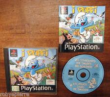 PLAYSTATION videogioco I PUFFI sles 01749 infogrames ITALIANO 1999 completo RARO