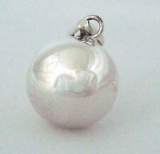14mm plain 925 Sterling Silver Bola Harmony Ball Bell jingle Charm Pendant  hm54