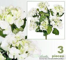 """Three 22"""" Hydrangea Artificial Flowers Silk Plants CWGR"""