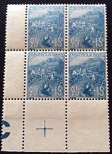 Monaco N° 30 25+15 C Bleu Neuf ** Bloc De 4 Croix De Repère TTB Côté 300€ +50%
