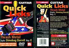 DIMEBAG DARRELL, THRASH METAL, GUITAR LICKS - NEW GUITAR INSTRUCTION DVD
