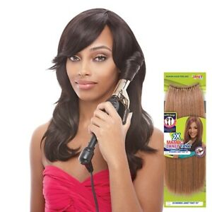 """Janet Collection 2X Mambo Natural Permed Yaky Crochet Hair 12"""" Selfit looped"""