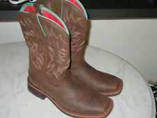 """Womens Ariat 10018676 Delilah 10"""" Western Square Toe Boots! Size 9"""