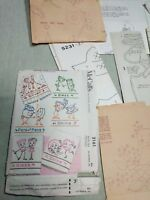 MCCALLS VTG 1957 TRANSFER PATTERNS 2161 Lot Assorted Vtg Transfer Trace Patterns