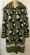 Missoni coat green and black floral print knit size 10-12