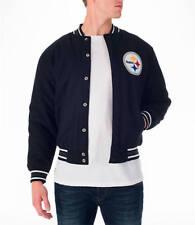 NWT Pittsburgh Steelers Mens Jacket Sz Med Wool Reversible Nylon NFL $169.99