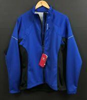 NWT Sugoi Women's Firewall 220 Thermal Cycling Jacket Blue Black Full Zip sz M