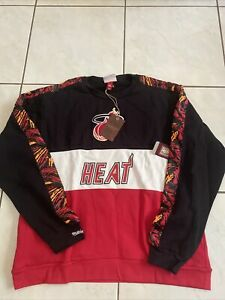 Mitchell & Ness  Miami Heat Scorer Crew Neck Sweatshirt mens NWT size XXL