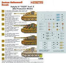 Techmod Decals 1/72 Pz Kpfw VI Tiger I Ausf E (Mid)