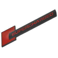 Metal Supercharged Car Emblem Badge Sticker Decal Fit Land Rover Audi Red+Black