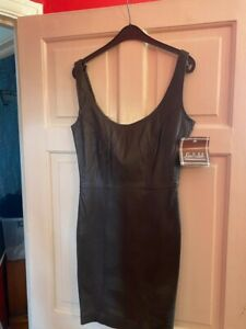 Suede club black/brown leather dress size 12 - brand new