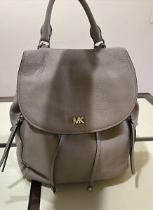 Michael Kors Gray Large Leather Backpack