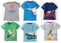 Mini Boden Boys Applique top t-shirt cotton 1-12 years new short sleeve tee car