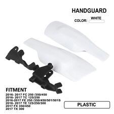White Hand Guards For Husqvarna FC250 FC350 FC450 TC125 TC250 FE250 TE125 FX350