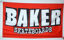 Baker Skateboards Flag 3x5 Banner Skate Wall US Seller