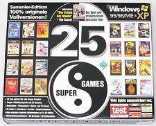 #123 Sammler Edition 25 Super Spiele bis Win XP 14CDs Sport Quitz Movie Arcade