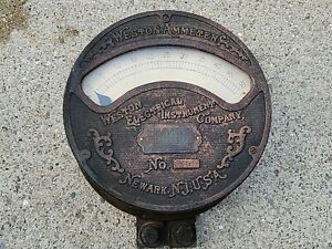 ANTIQUE  VINTAGE WESTON AMMETER  METER WESTON ELECTRICAL INSTRUMENT COMPANY
