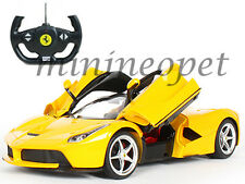 RASTAR R/C RADIO REMOTE CONTROL CAR La FERRARI LaFERRARI NEW ENZO 1/14 YELLOW