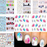 Fashion Nail Art Transfer Stickers 3D Manicure Tips Decal DIY Decorations Tools