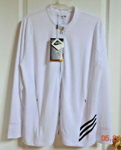 ADIDAS Golf Ladies  White Size XL ClimaLite Full Zip Jacket Top Reg $70