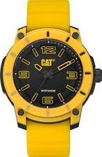 CAT Stratum Yellow Men Watch,45 mm,ABS, black face, yellow silicone, BK/YL dial