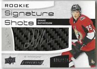 2018-19 UD Engrained Drake Batherson Rookie Signature Shots Auto RC Card #/249