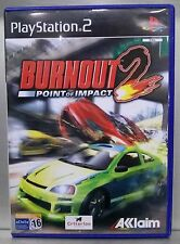 BURNOUT 2 POINT OF IMPACT - PLAYSTATION 2 - PAL ESPAÑA - COMPLETO
