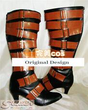 Hot Sale Black Butler Kuroshitsuji Undertaker Boot Party Shoes Cosplay Boots
