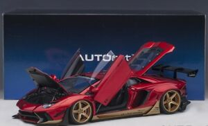 Liberty Walk lb-Works Lamborghini Aventador Limited Edition (Hyper Red With Gold