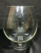 "Clear Glass 10"" Vase Pedestal Stemmed Globe Open Bowl"