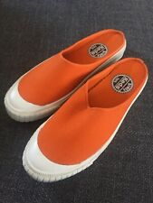 Rare Vintage Keds Orange Slip-On Canvas Sneakers Slides Women's Size 6M Korea
