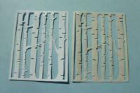 6 Die Cut Birch Trees A-2 Card Size Card Stock  Color Choice Card Front